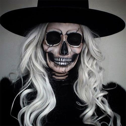 20-Creepy-Skull-Skeleton-Halloween-Makeup-Ideas-Trends-Looks-2019-3