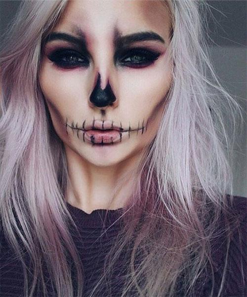 20-Creepy-Skull-Skeleton-Halloween-Makeup-Ideas-Trends-Looks-2019-4