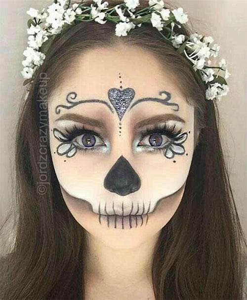 20-Creepy-Skull-Skeleton-Halloween-Makeup-Ideas-Trends-Looks-2019-6