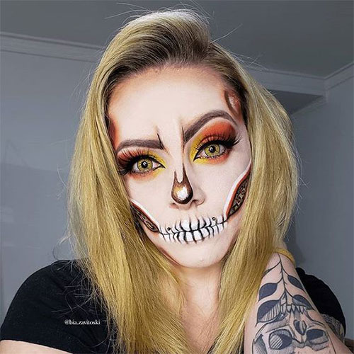 Halloween Ideas 2019 Makeup.20 Creepy Skull Skeleton Halloween Makeup Ideas Trends