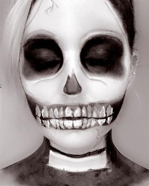 20-Creepy-Skull-Skeleton-Halloween-Makeup-Ideas-Trends-Looks-2019-9