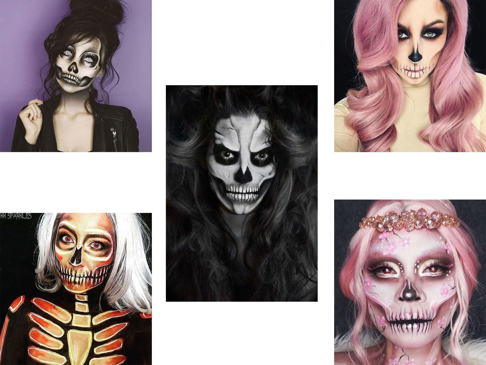 Halloween Makeup Ideas 2019 Scary.20 Creepy Skull Skeleton Halloween Makeup Ideas Trends