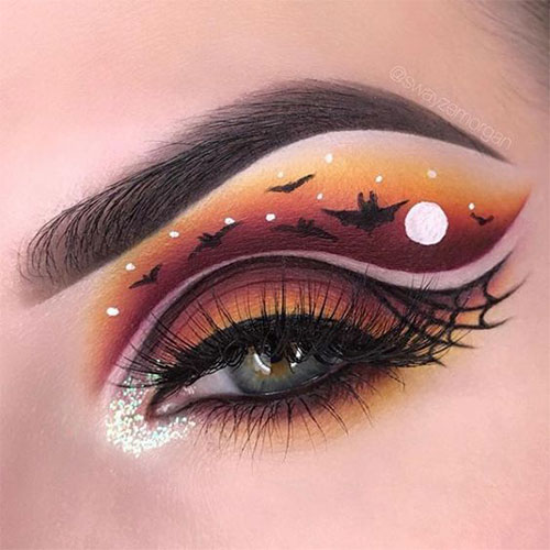 50-Best-Scary-Unique-Halloween-Eye-Makeup-Looks-Ideas-Trends-2019-22