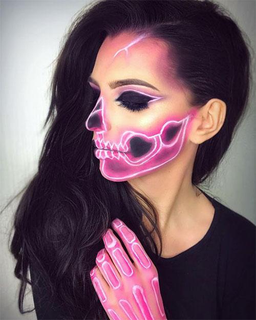 10-Amazing-Neon-Face-Paint-Makeup-Ideas-For-Halloween-2019-11