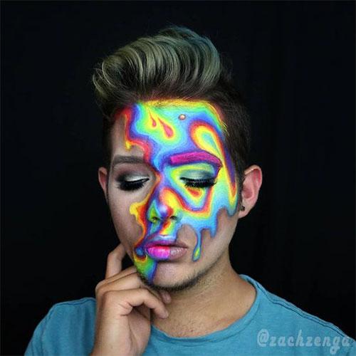 10-Amazing-Neon-Face-Paint-Makeup-Ideas-For-Halloween-2019-2