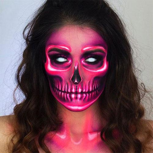 10-Amazing-Neon-Face-Paint-Makeup-Ideas-For-Halloween-2019-3