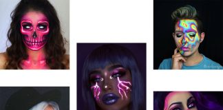 10-Amazing-Neon-Face-Paint-Makeup-Ideas-For-Halloween-2019-F