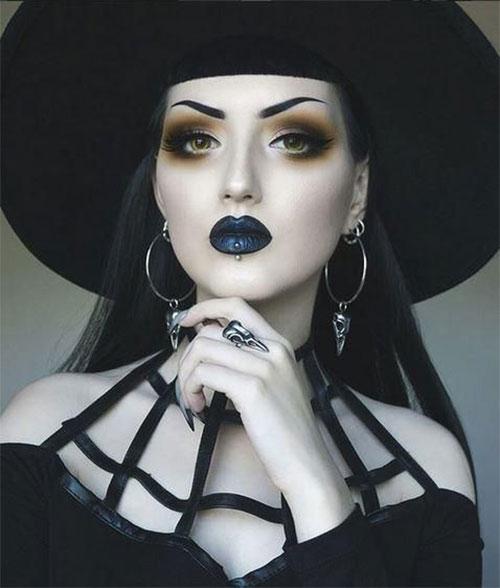 12-Horror-Gothic-Halloween-Makeup-Looks-Ideas-Trends-2019-7