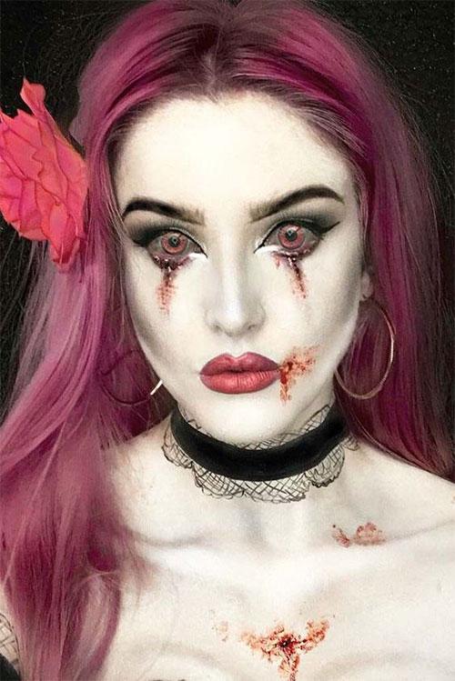 Halloween Makeup Ideas 2019 Scary.12 Horror Gothic Halloween Makeup Looks Ideas Trends