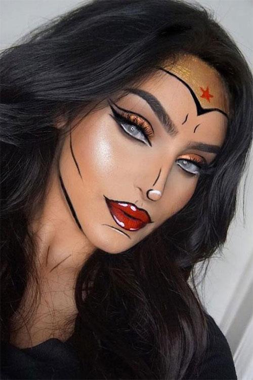 15-Best-Horror-Halloween-Gold-Makeup-Looks-Styles-Ideas-2019-11