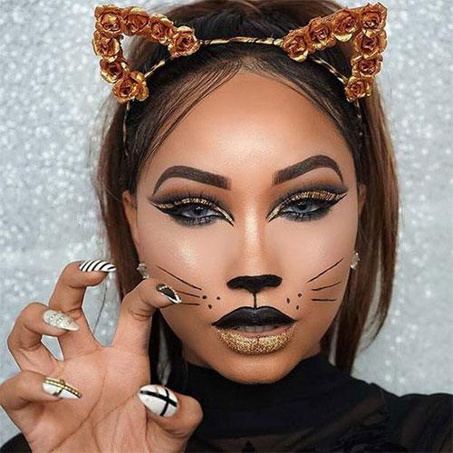 15-Best-Horror-Halloween-Gold-Makeup-Looks-Styles-Ideas-2019-12