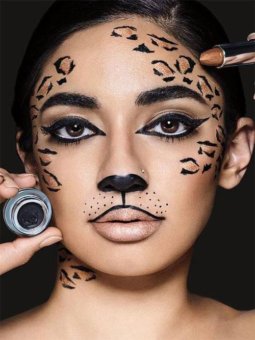 15-Best-Horror-Halloween-Gold-Makeup-Looks-Styles-Ideas-2019-13