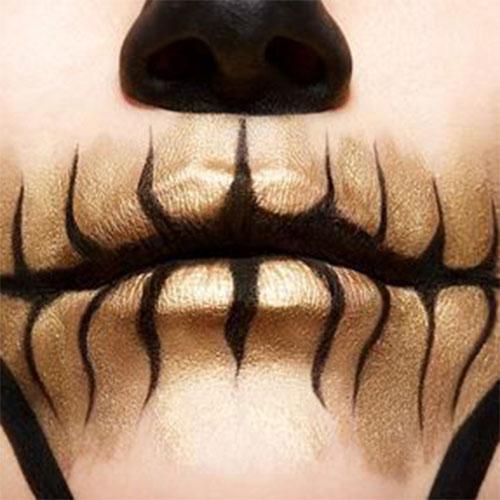 15-Best-Horror-Halloween-Gold-Makeup-Looks-Styles-Ideas-2019-17