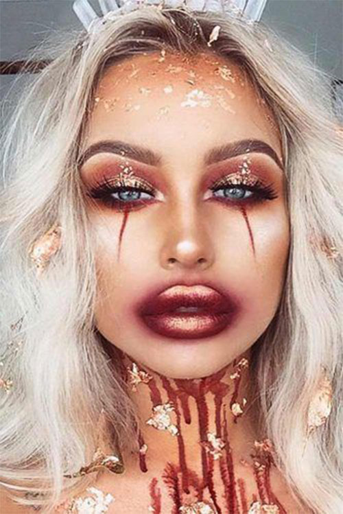 15-Best-Horror-Halloween-Gold-Makeup-Looks-Styles-Ideas-2019-2