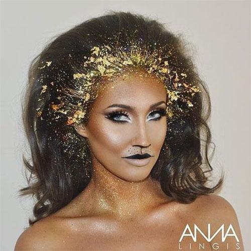 15-Best-Horror-Halloween-Gold-Makeup-Looks-Styles-Ideas-2019-8