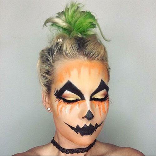 15-Scary-Pumpkin-Jack-o-Lantern-Halloween-Face-Makeup-Ideas-Looks-2019-11