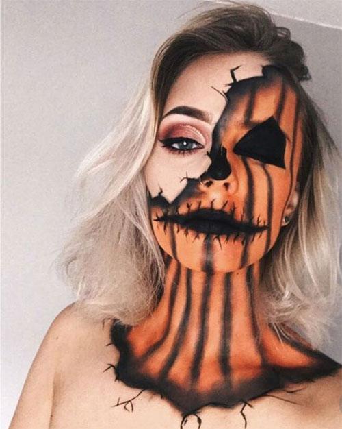 15-Scary-Pumpkin-Jack-o-Lantern-Halloween-Face-Makeup-Ideas-Looks-2019-12