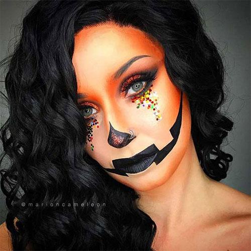 15-Scary-Pumpkin-Jack-o-Lantern-Halloween-Face-Makeup-Ideas-Looks-2019-13