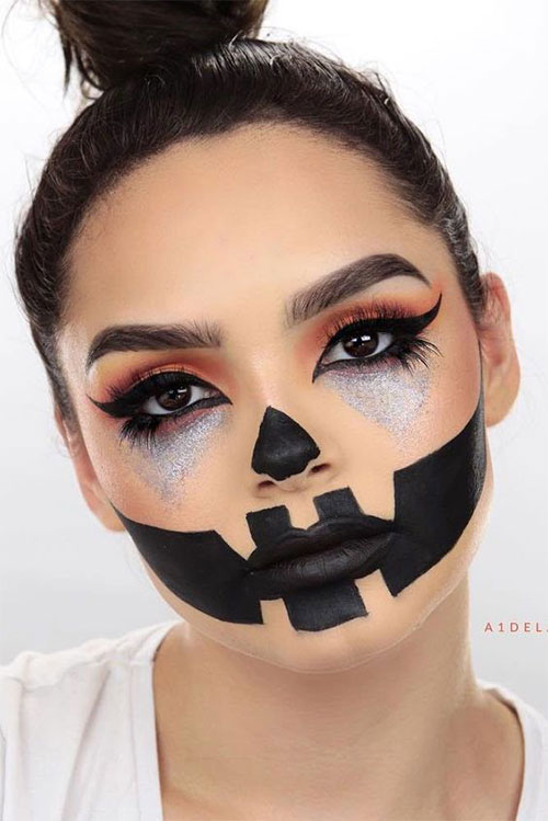 15-Scary-Pumpkin-Jack-o-Lantern-Halloween-Face-Makeup-Ideas-Looks-2019-14