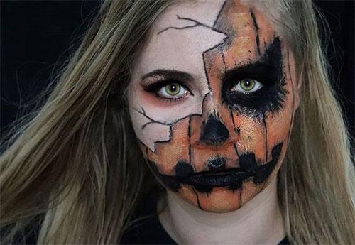 15-Scary-Pumpkin-Jack-o-Lantern-Halloween-Face-Makeup-Ideas-Looks-2019-15
