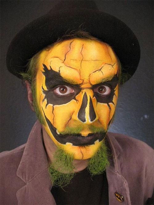 15-Scary-Pumpkin-Jack-o-Lantern-Halloween-Face-Makeup-Ideas-Looks-2019-16