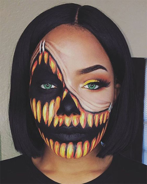 15-Scary-Pumpkin-Jack-o-Lantern-Halloween-Face-Makeup-Ideas-Looks-2019-2
