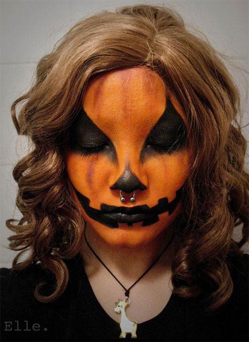 15-Scary-Pumpkin-Jack-o-Lantern-Halloween-Face-Makeup-Ideas-Looks-2019-4