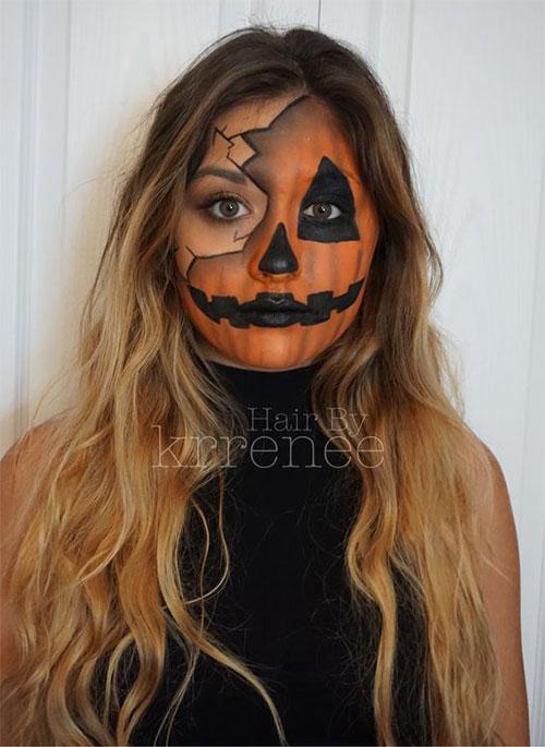 15-Scary-Pumpkin-Jack-o-Lantern-Halloween-Face-Makeup-Ideas-Looks-2019-8