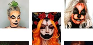 15-Scary-Pumpkin-Jack-o-Lantern-Halloween-Face-Makeup-Ideas-Looks-2019-F