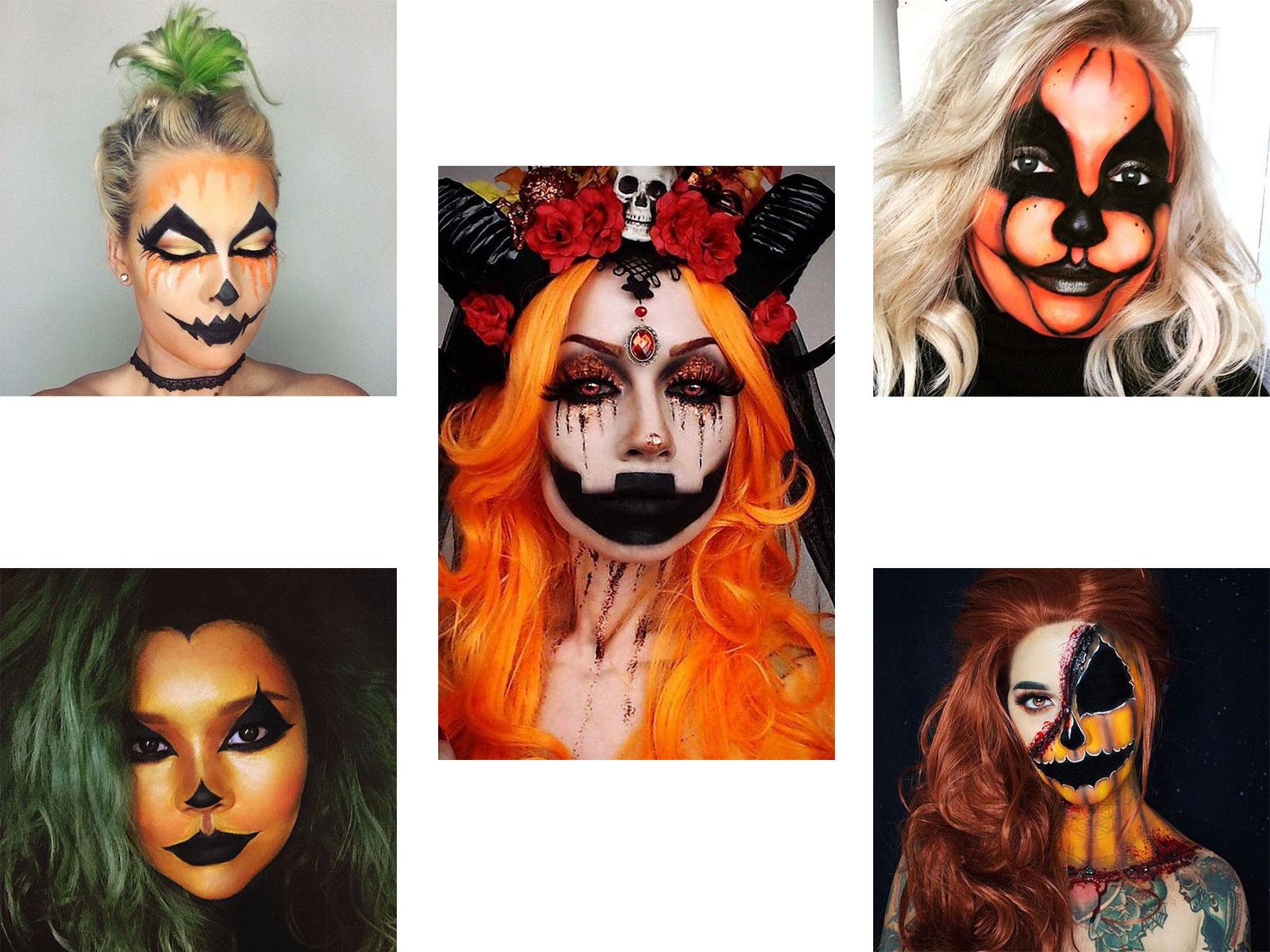 15-Scary-Pumpkin-Jack-o-Lantern-Halloween-Face-Makeup-Ideas-Looks-2019-F