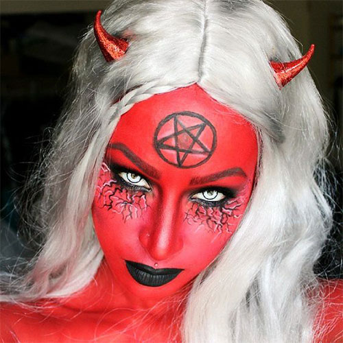 18-Horrifying-Devil-Halloween-Face-Makeup-Ideas-Styles-Trends-2019-5
