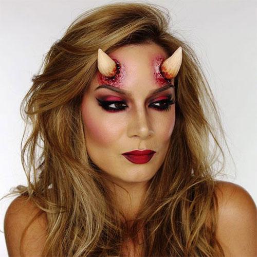 18-Horrifying-Devil-Halloween-Face-Makeup-Ideas-Styles-Trends-2019-9