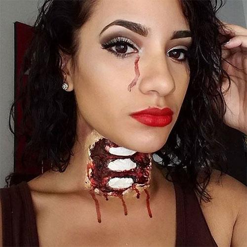 20-Very-Scary-Halloween-Neck-Makeup-Looks-Styles-Ideas-2019-7