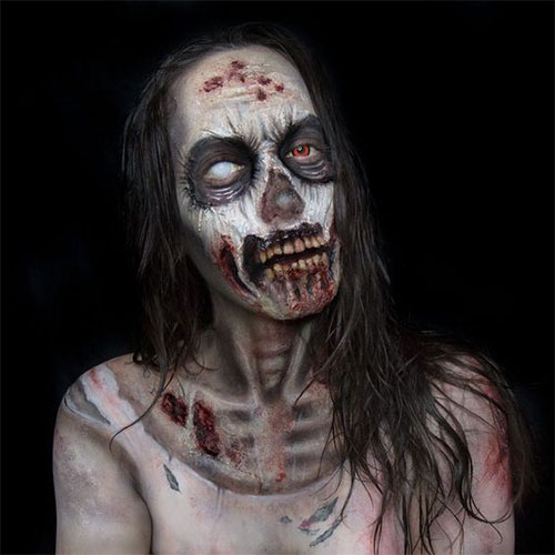 30-Very-Scary-The-Walking-Dead-Halloween-Face-Makeup-Ideas-Looks-2019-13