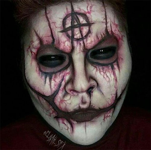 30-Very-Scary-The-Walking-Dead-Halloween-Face-Makeup-Ideas-Looks-2019-26
