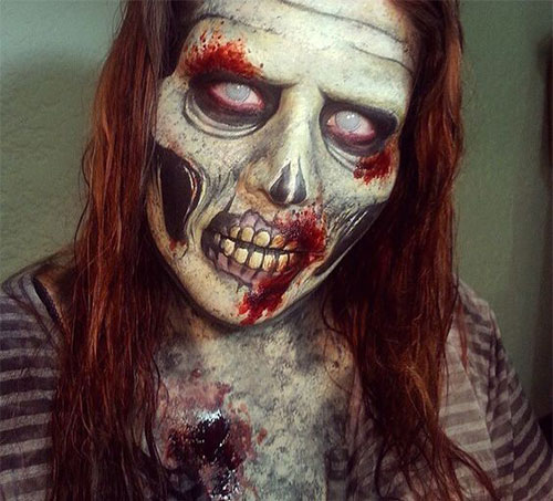 30-Very-Scary-The-Walking-Dead-Halloween-Face-Makeup-Ideas-Looks-2019-4