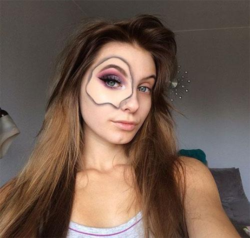 35-Creepy-Crazy-Creative-Halloween-Illusion-Makeup-Looks-Ideas-2019-17