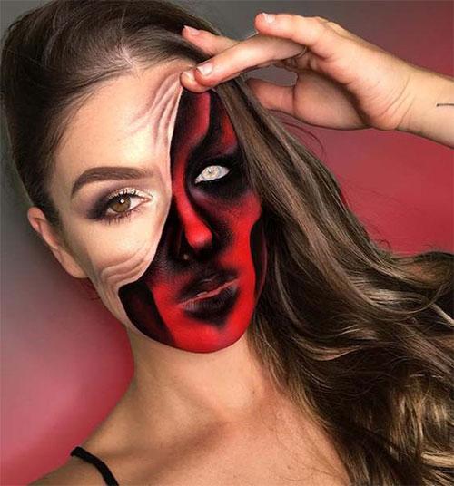 35-Creepy-Crazy-Creative-Halloween-Illusion-Makeup-Looks-Ideas-2019-28