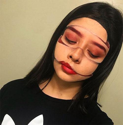 35-Creepy-Crazy-Creative-Halloween-Illusion-Makeup-Looks-Ideas-2019-31
