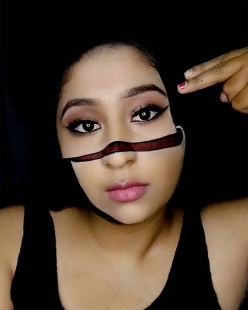 35 Creepy Crazy Creative Halloween Illusion Makeup Looks Ideas 2019 Idea Halloween