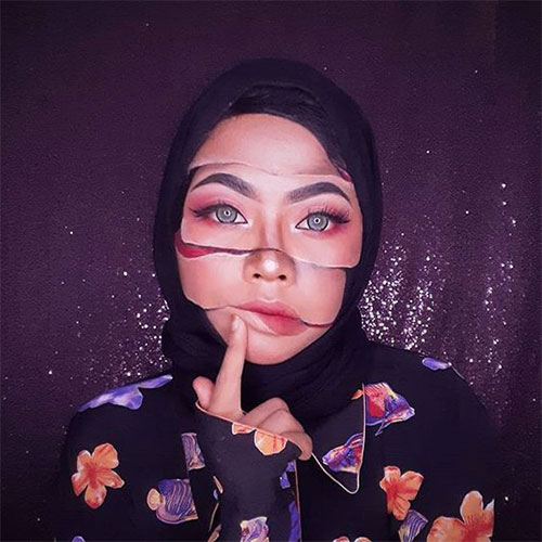 35-Creepy-Crazy-Creative-Halloween-Illusion-Makeup-Looks-Ideas-2019-5