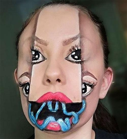 35-Creepy-Crazy-Creative-Halloween-Illusion-Makeup-Looks-Ideas-2019-9
