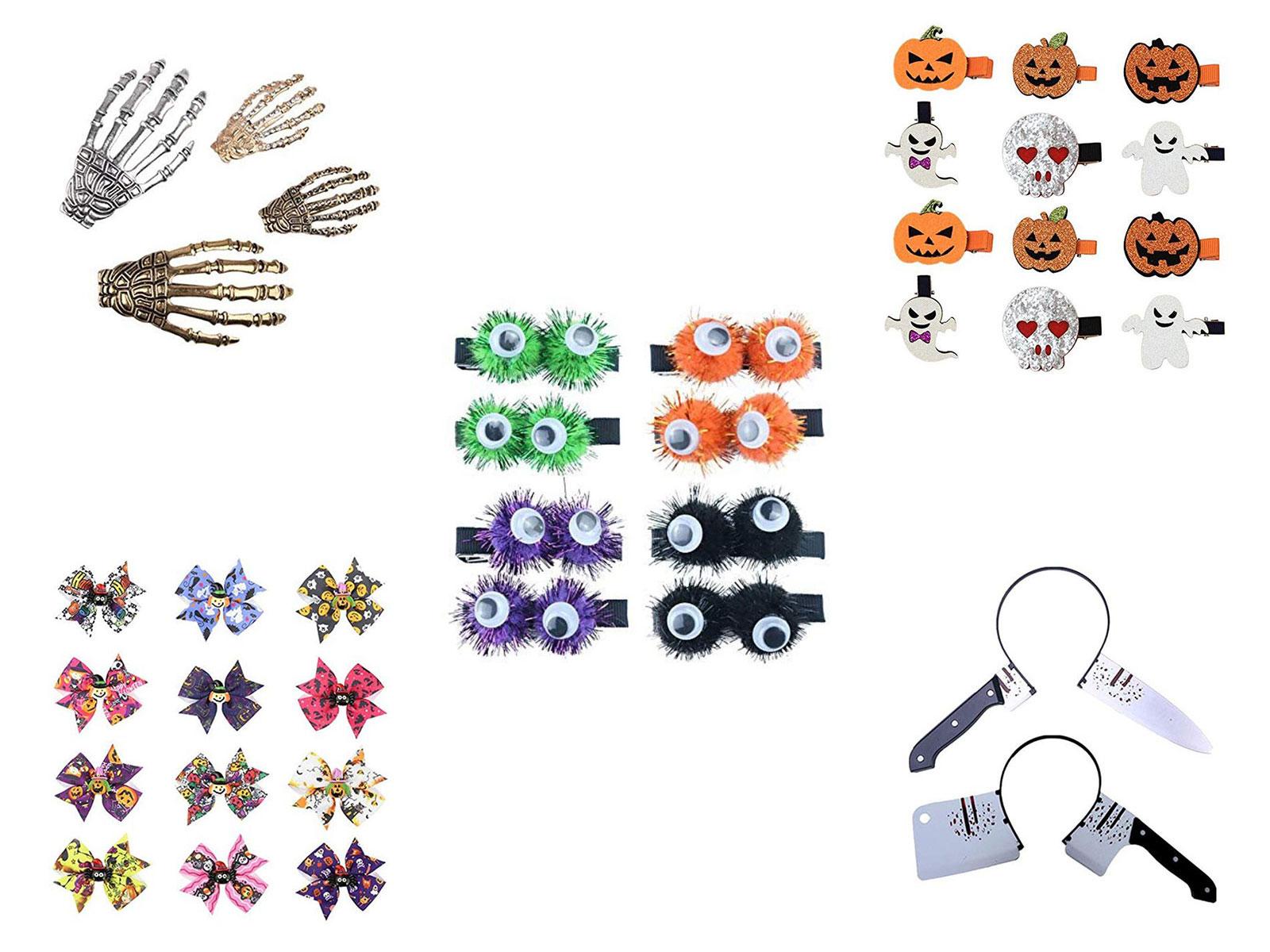 20-Halloween-Hair-Clips-Hair-bows-Headbands-2019-Hair-Accessories-F