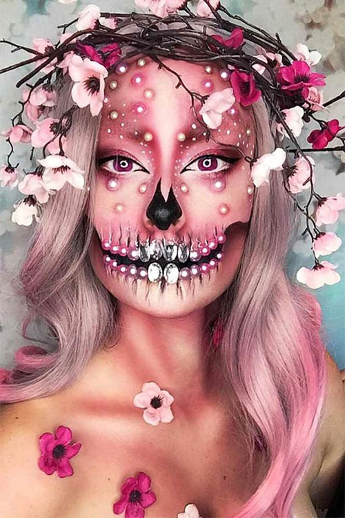 30-Creepy-Creative-Unique-Halloween-Hairstyle-Looks-Ideas-For-Girls-Women-2019-8