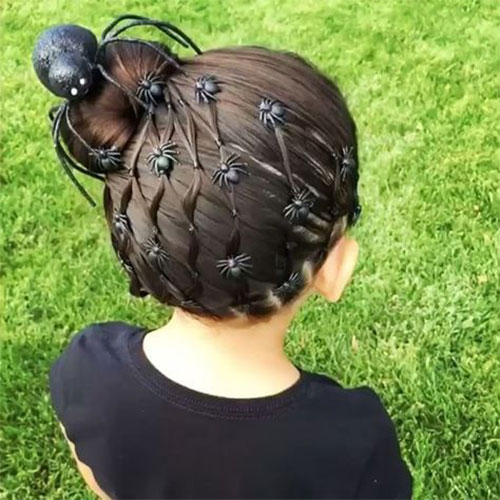 55-Creative-Crazy-Unique-Halloween-Hairstyle-Ideas-Looks-For-Little-Girls-Kids-2019-22