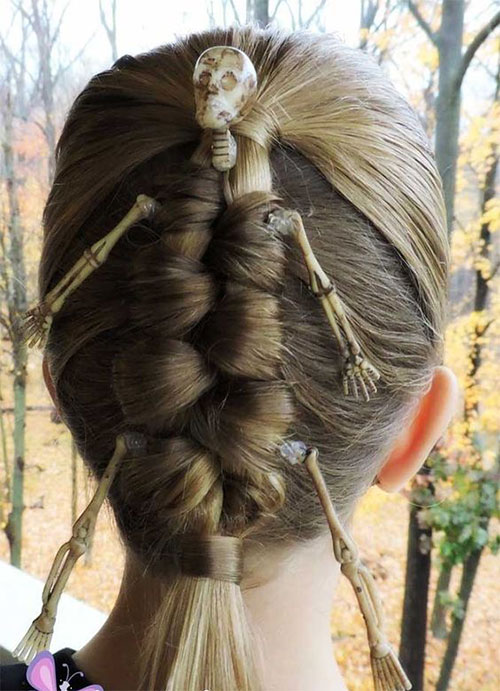 55-Creative-Crazy-Unique-Halloween-Hairstyle-Ideas-Looks-For-Little-Girls-Kids-2019-6